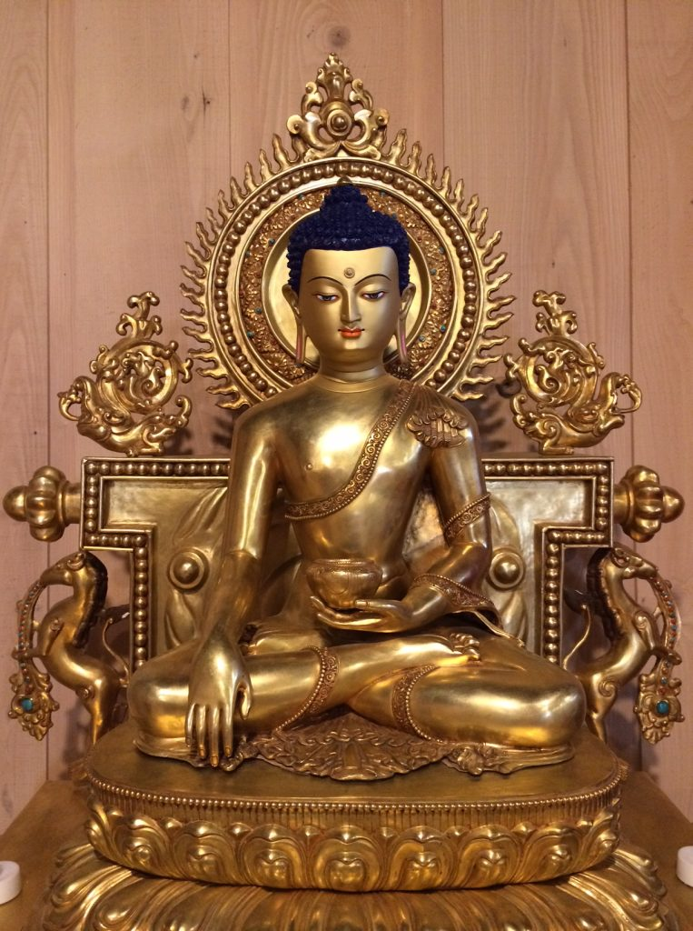 Buddha Shakyamuni at Gomde Cooperstown ready for Ngondro retreat